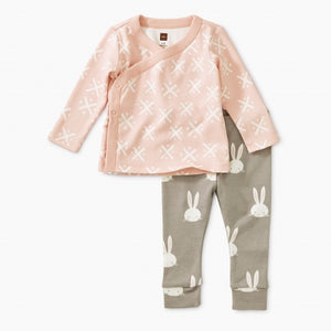 Soft Geo Wrap Top Baby Outfit
