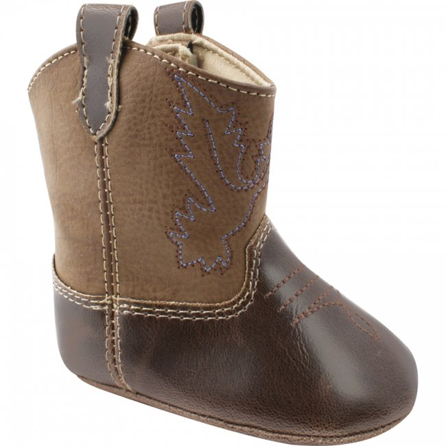 Baby Deer Brown Soft Sole Western Boots