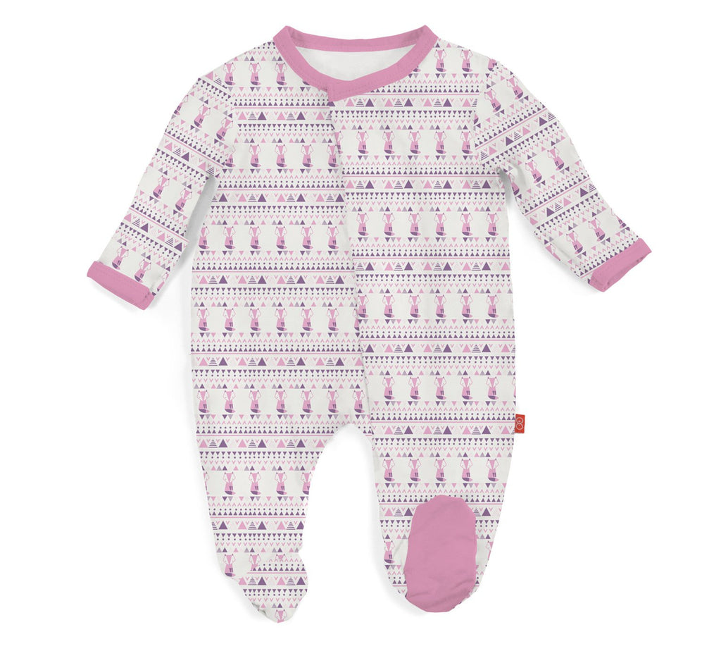 Pink Foxy Fair Isle Modal Magnetic Footie