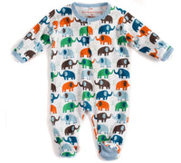 Blue Elephants Cotton Magnetic Footie