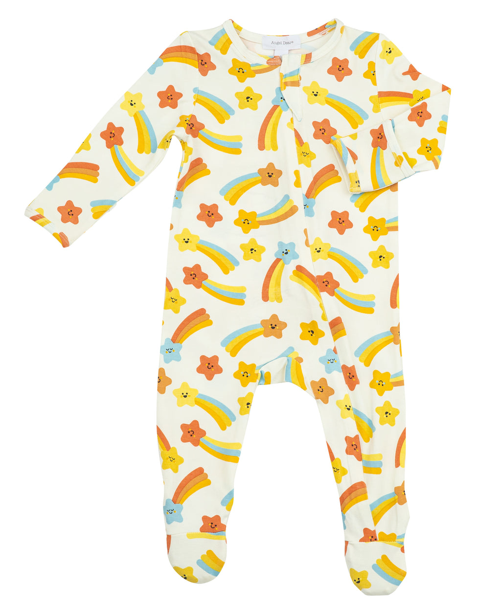 Shooting Stars Bamboo Zipper Footie