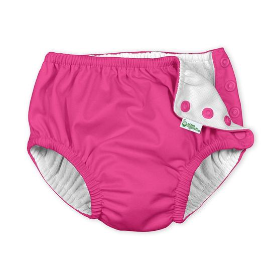 Hot Pink Snap Reusable Swim Diaper