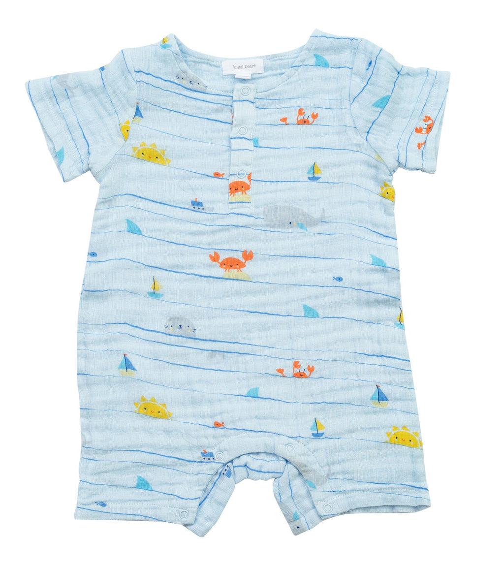 Sea Stripes - Muslin Henley Shortall