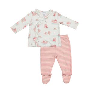 Pink Hippo Bamboo TMH Set