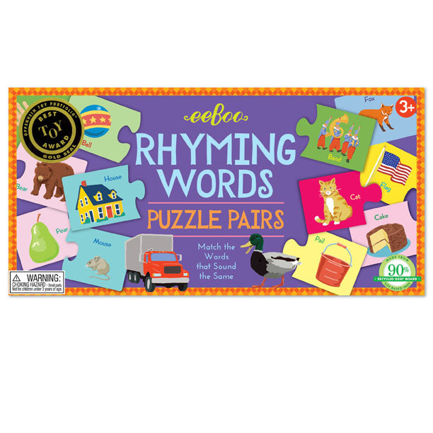 Rhyming Words Puzzle Pairs