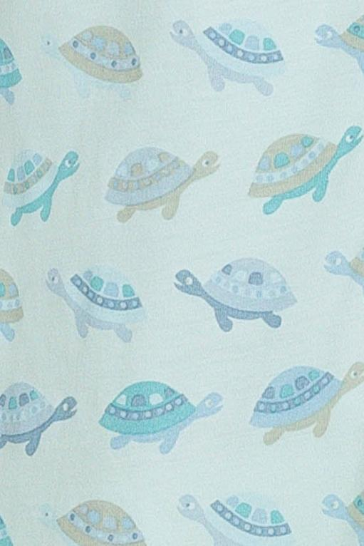 Turtles on Aqua Henley Romper