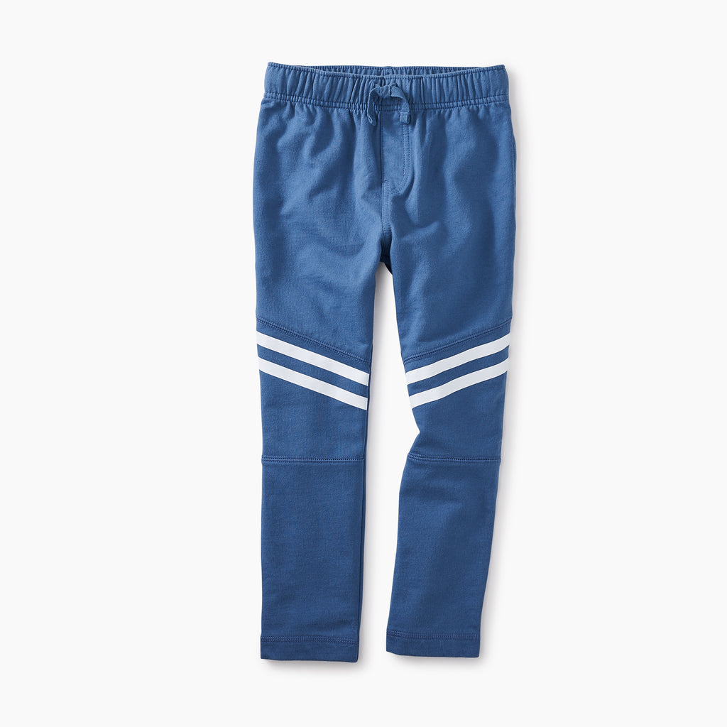 Sporty Stripe Cobalt Track Pants