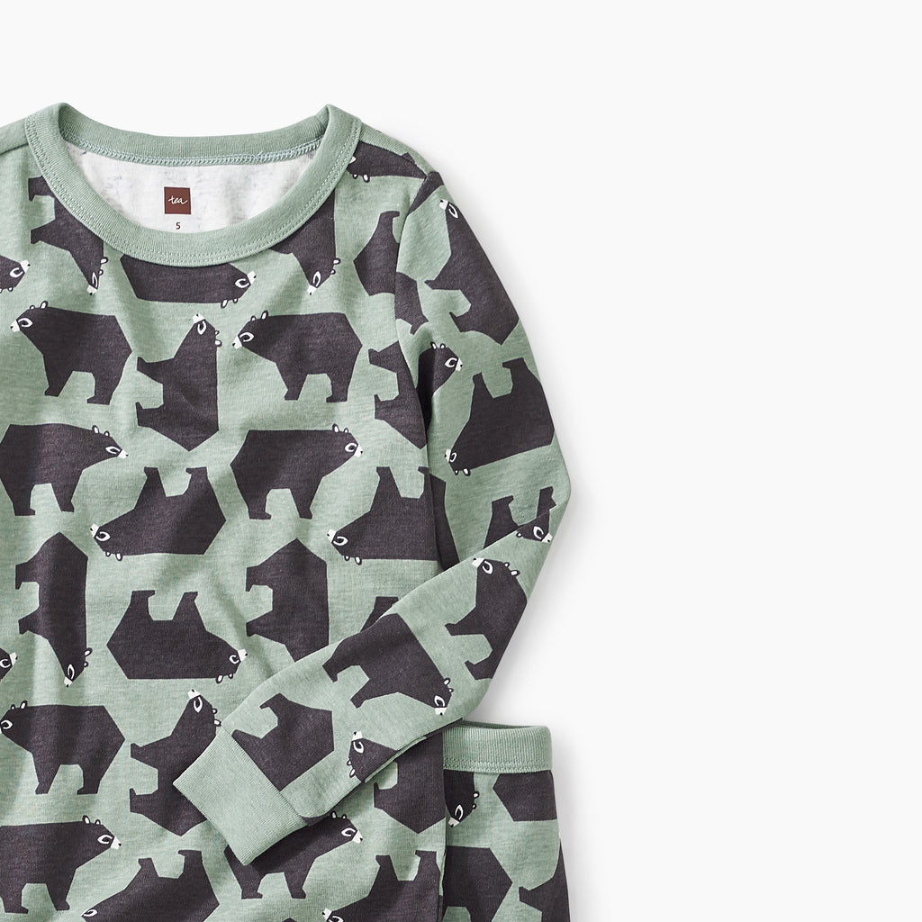 Brown Bear Bunch Printed Pajamas