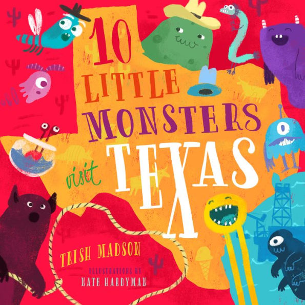 10 Little Monsters Visit Texas - Book