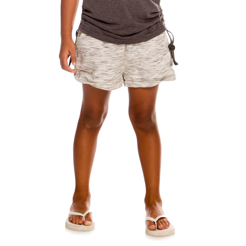 Black Space Dye Light French Terry Short