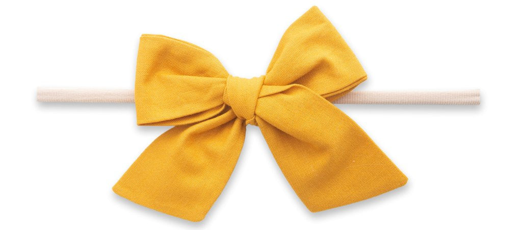 Cotton Bow Skinny Headband-Aztec Gold