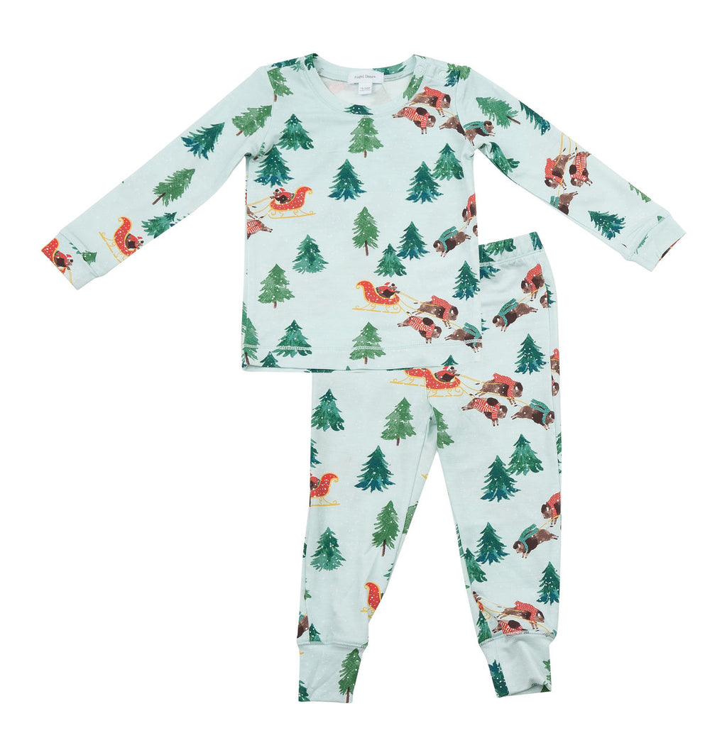 Winter Bison 2 Piece PJ Set