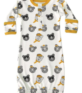 Bears Organic Cotton Infant Gown