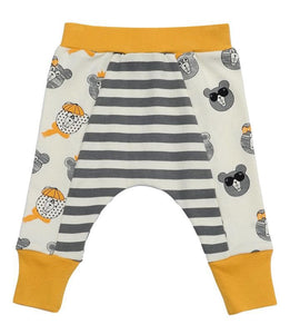 Bears Striped Organic Cotton Pants