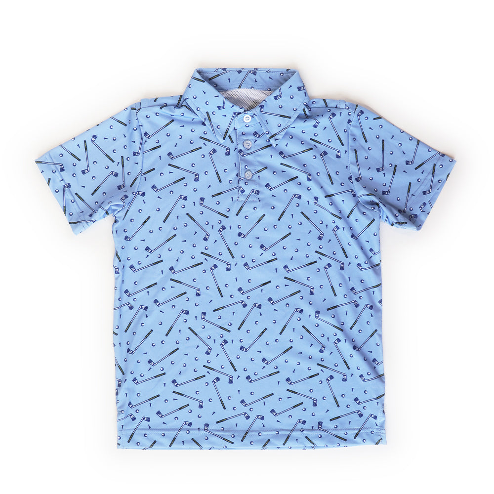 Golf Print Polo Shirt