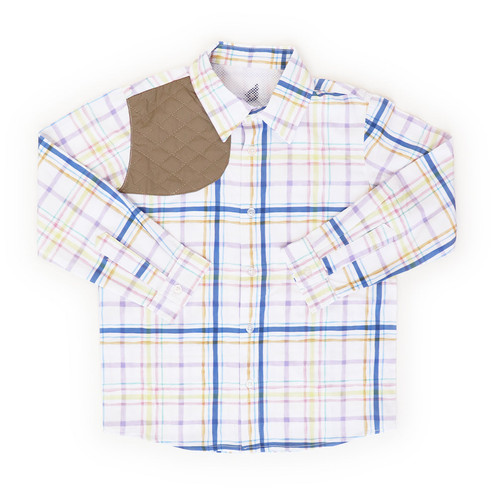 Easter Plaid Long Sleeve Ranch Shirt