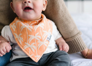 Bruno Orange Palms Bandana Bib