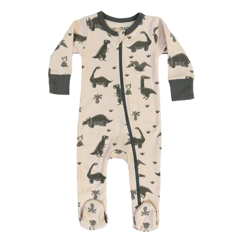 Dogwood Dinos Organic Cotton Footie