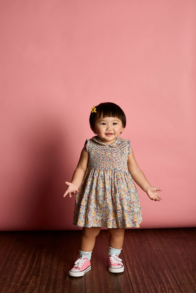 Elsie Floral Smocked Dress