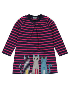 Cool Cats Applique Hem Jersey Dress