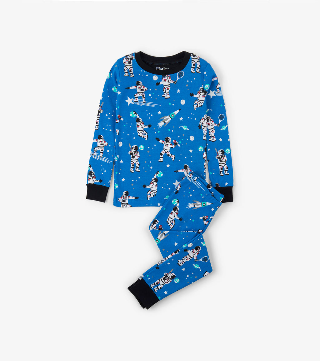 Athletic Astronauts Glow in the Dark Organic Cottons PJ Set