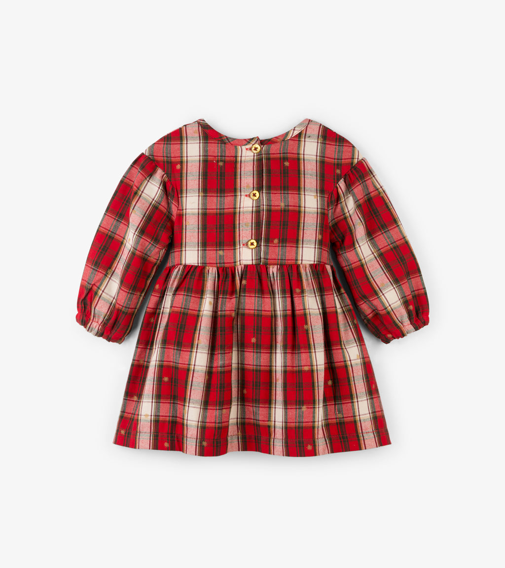 Holiday Plaid Party Dress