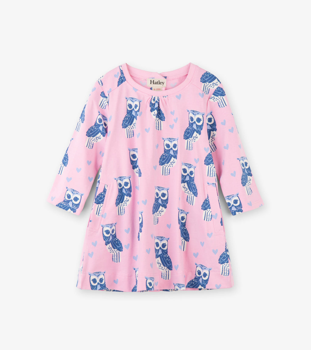Fancy Owls Pink Swing Dress