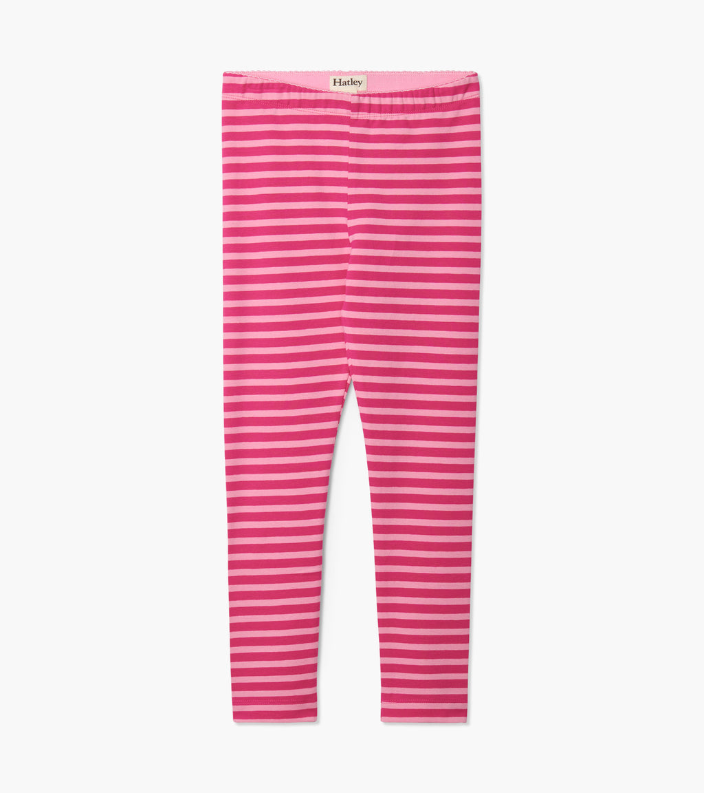 Fuchsia Stripe Leggings