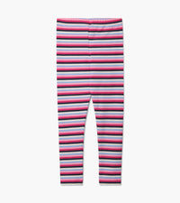 Pink Denim Stripe Leggings