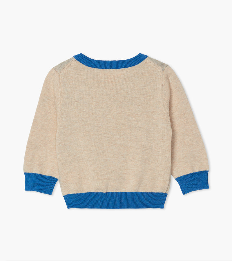 Cheerful Bear V-Neck Sweater