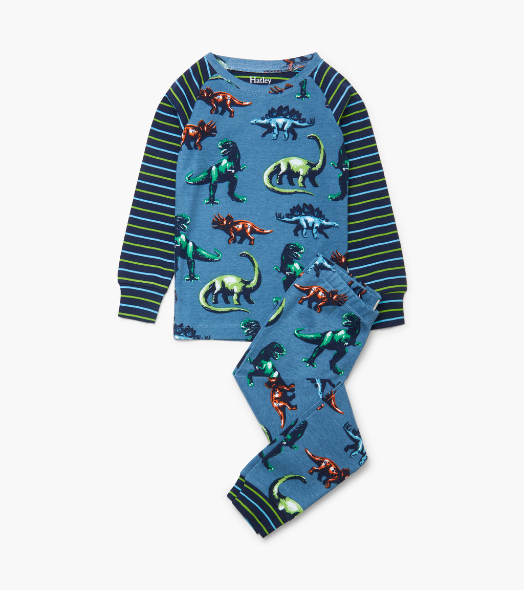 Painted Dinos Organic Pajama Set