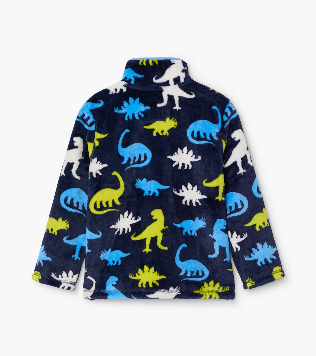 Silhouette Dinos Fuzz Fleece Zip Up
