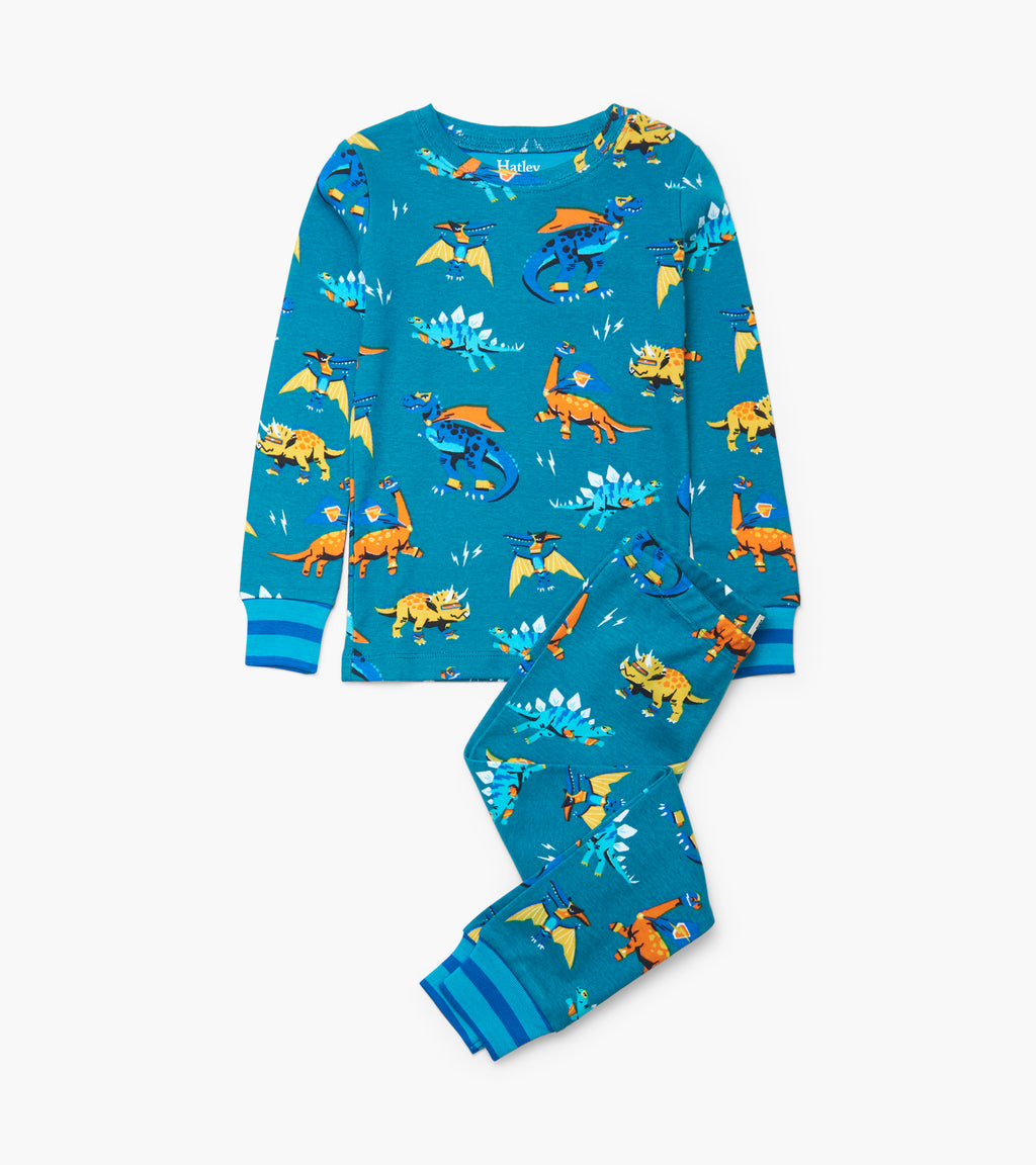 Superhero Dinos Organic Cotton Pajama Set
