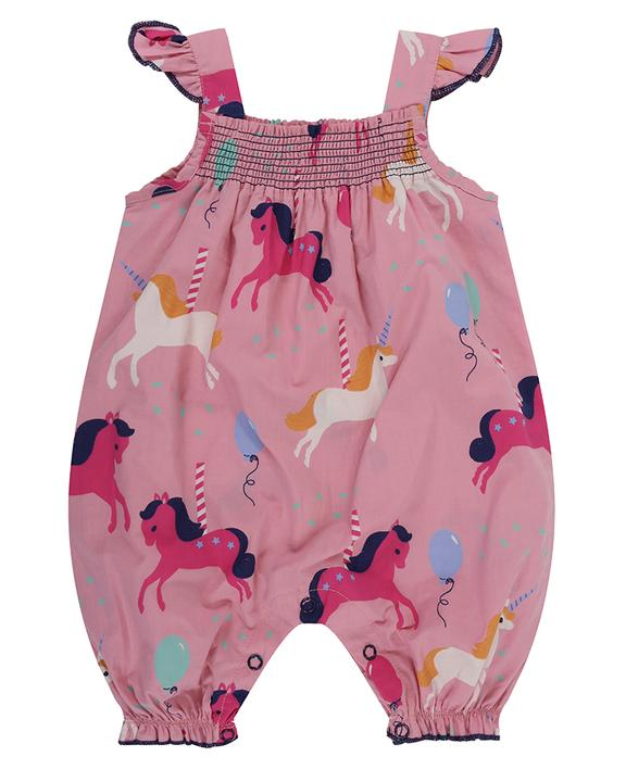 Lilly and Sid carousel romper front