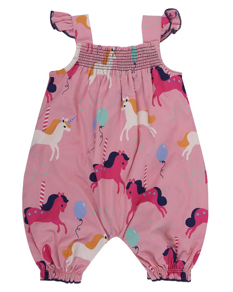 Lilly and Sid carousel romper back
