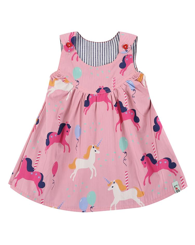 Reversible Woven Dress - Carousel front
