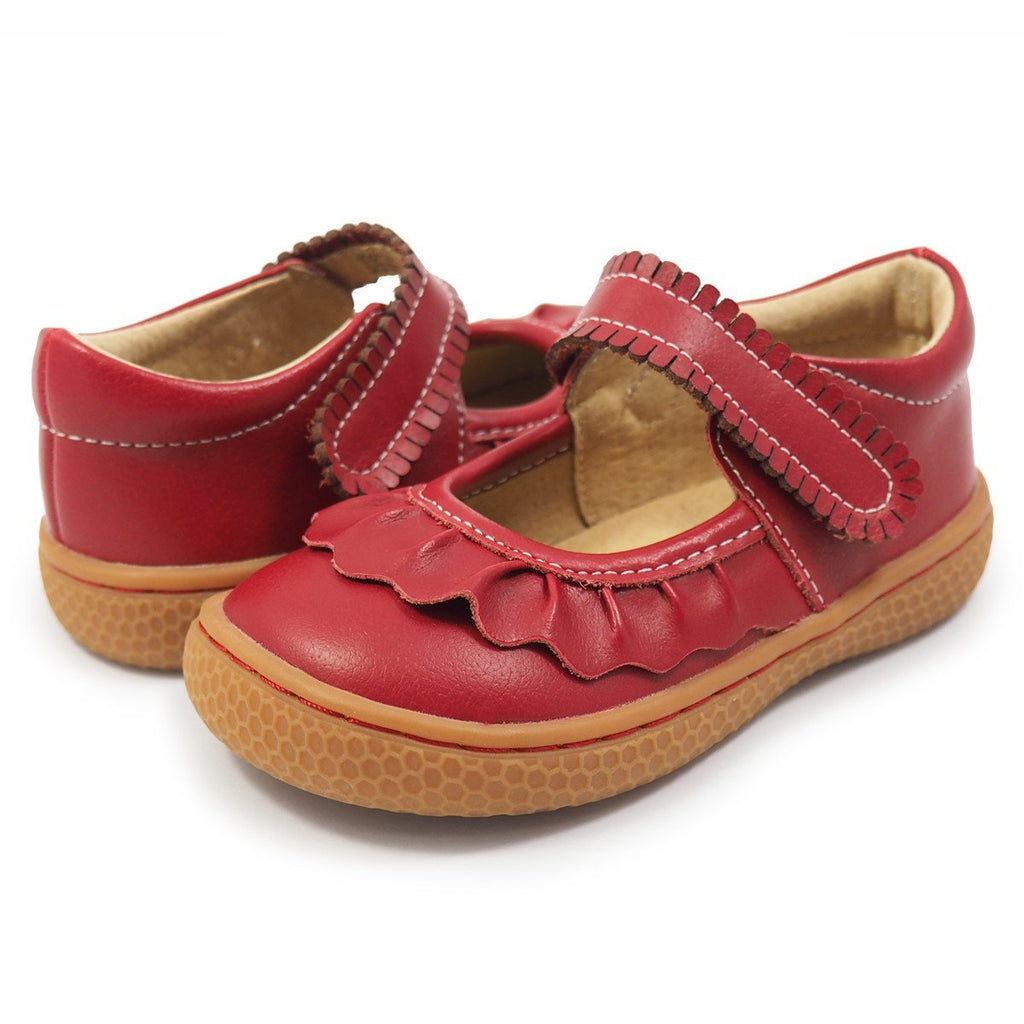 Ruche Mary Jane Toddler/Kids Leather Girls Shoe