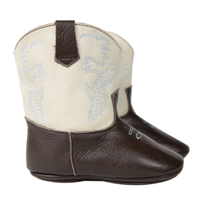 Brown & Ivory Frisco Baby Boots