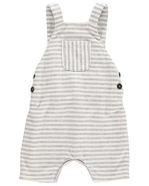 Grey Striped Shortie Overall