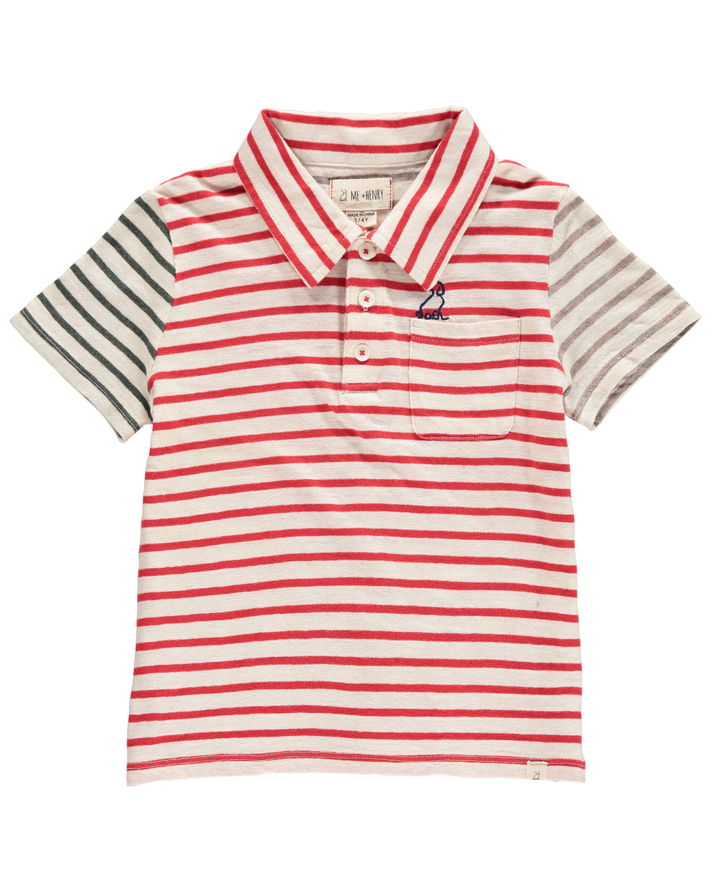 Red Multi-Stripe Polo