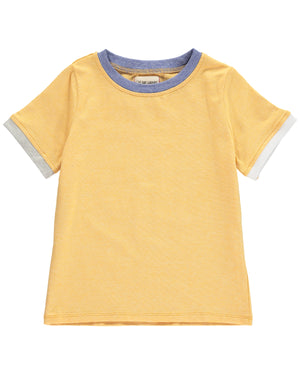Yellow Tee with Contrasting Trims