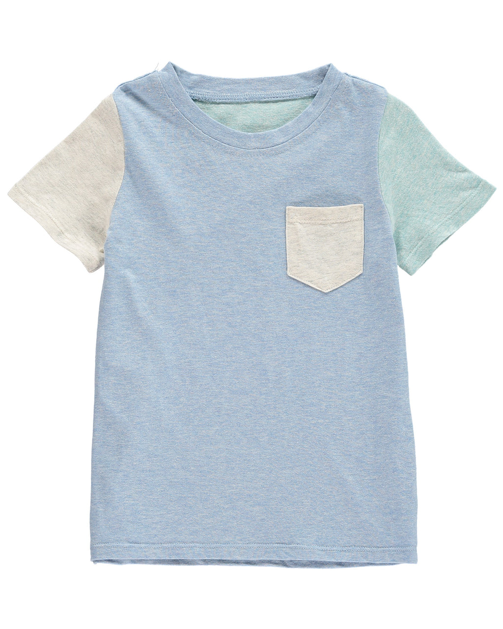 Blue Color Block Tee