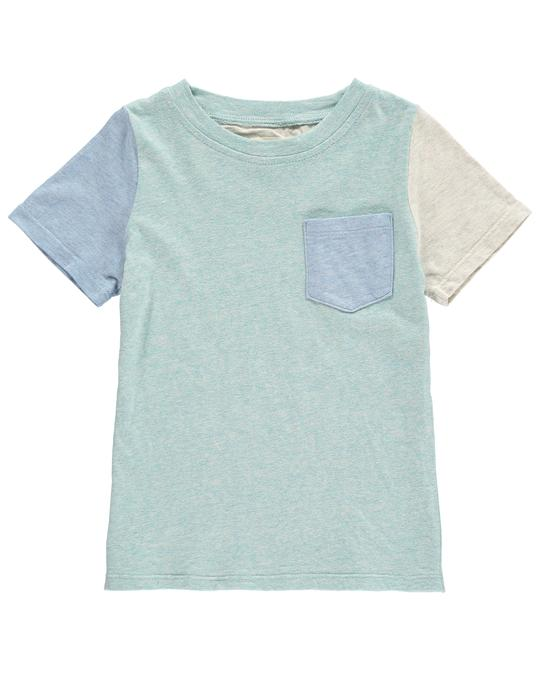 Green Color Block Tee