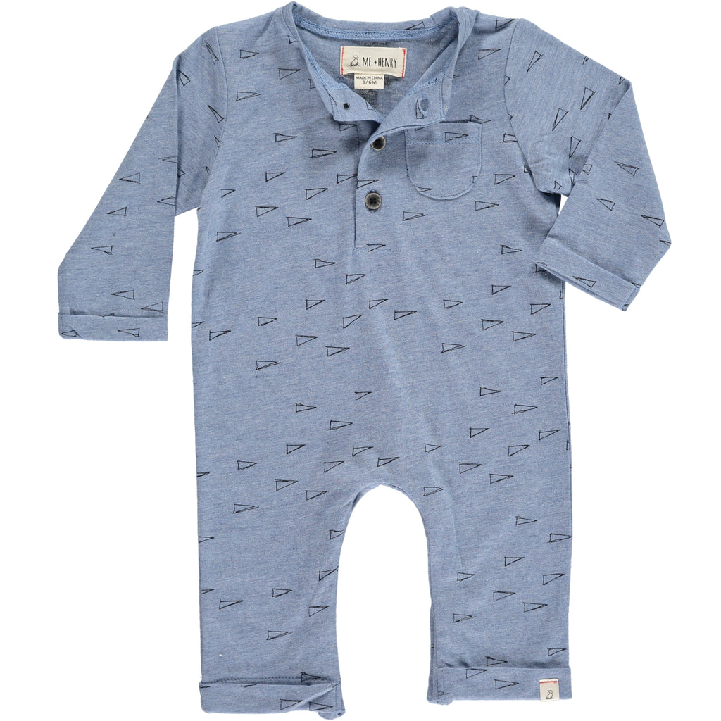 Blue Flag Print Coverall