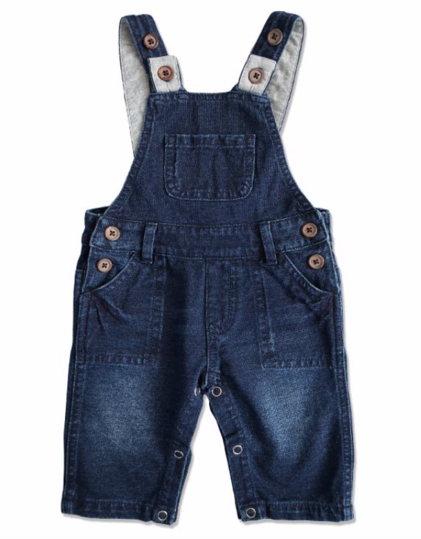 Demin Effect Overalls