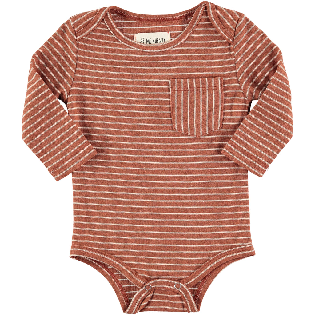 Brown Stripe Onesie