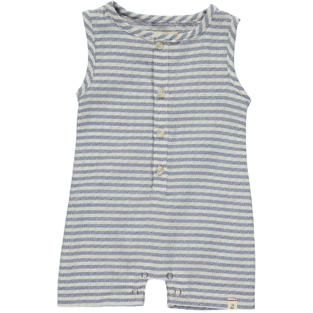 Me & Henry Blue & White Woven Playsuit