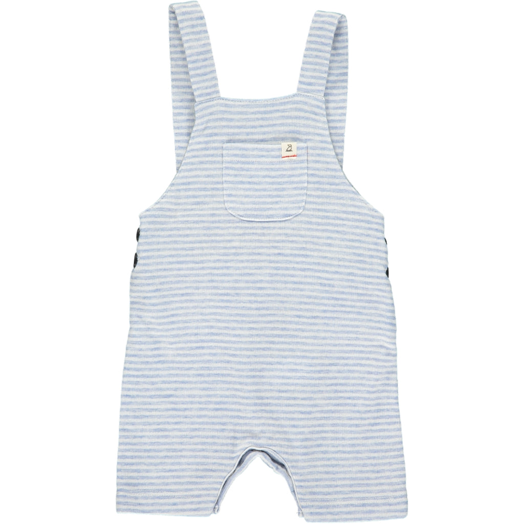 Me & Henry Light Blue Striped Shortie Overall