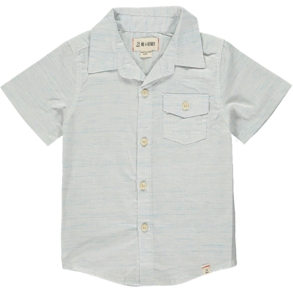 Me & Henry Blue Fleck Button Down Shirt
