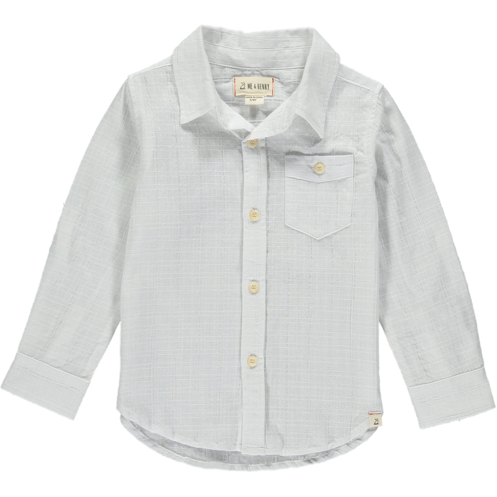 Me & Henry White Long Sleeve Button Down Shirt